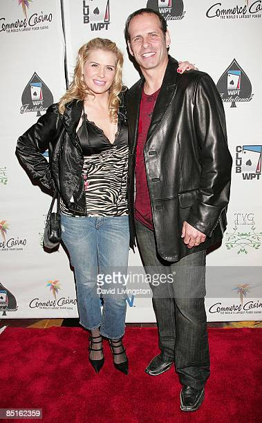 Actress Kristy Swanson and husband Lloyd Eisler attend the 7th annual Celebrity World Poker Tournament at the Commerce Casino on February 28 2009 in...