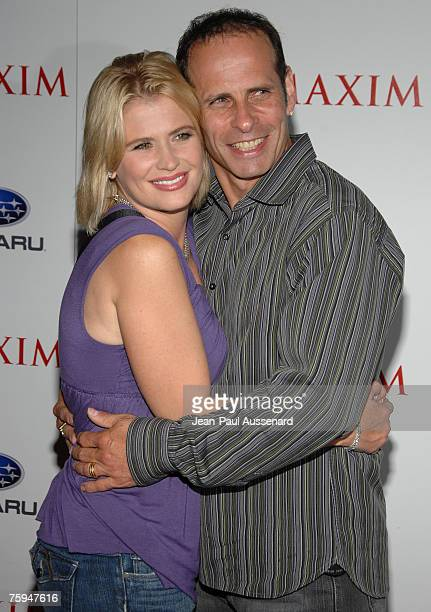 Actress Kristy Swanson and Lloyd Eisler arrive at the Maxim Magazine's ICU Event held at Area on August 2nd 2007 in Los Angeles California
