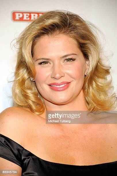 Actress Kristy Swanson arrives at the benefit grand opening of celebrity vehicle customization shop Galpin Auto Sports on October 18 2008 in Van Nuys...
