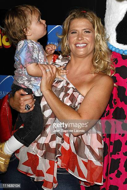 "Actress Kristy Swanson arrives at the Premiere Of ""Fly Me To The Moon"" at the DGA on August 3, 2008 in Los Angeles, California."