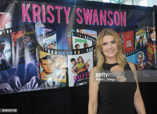 Actress Kristy Swanson attends Day 2 of the 2017 Son Of Monsterpalooza Convention held at Marriott Burbank Airport Hotel on September 16, 2017 in...
