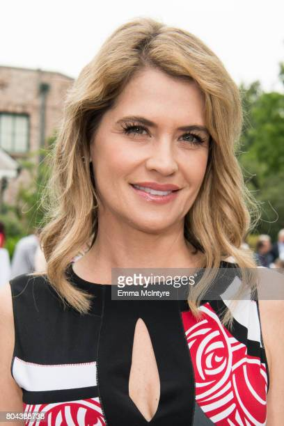 Actress Kristy Swanson attends the 150th anniversary of Canada's Confederation at the Official Residence of Canada on June 30, 2017 in Los Angeles,...