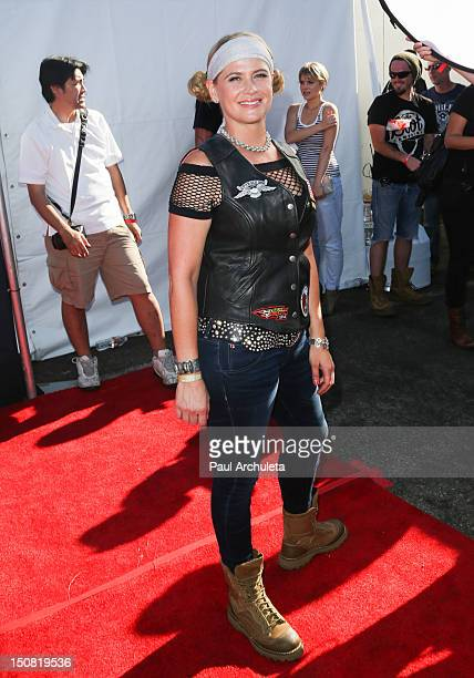 Actress Kristy Swanson attends the 2nd annual Boot Ride and Rally at Happy Ending Bar Restaurant on August 26 2012 in Hollywood California