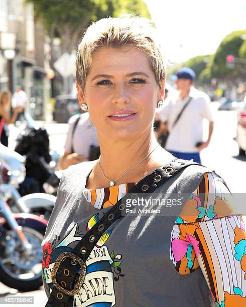 Actress Kristy Swanson attends the 6th Annual Kiehl's LifeRide for amfAR celebration at Kiehl's Since 1851 on August 12, 2015 in Santa Monica,...