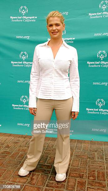 Actress Kristy Swanson attends the Special Olympics Southern California Celebrity Bocce Tournament at The Culver Studios on March 29 2009 in Culver...