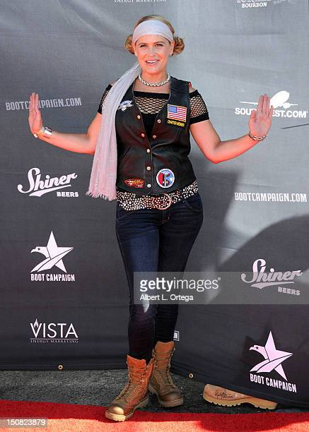 Actress Kristy Swanson participates in the 2nd Annual Boot Ride And Rally to benefit US Soldiers on August 26 2012 in Hollywood California