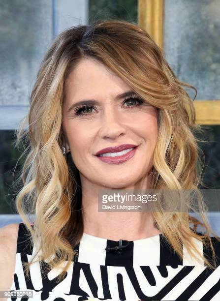 """Actress Kristy Swanson visits Hallmark's """"Home & Family"""" at Universal Studios Hollywood on January 24, 2018 in Universal City, California."""