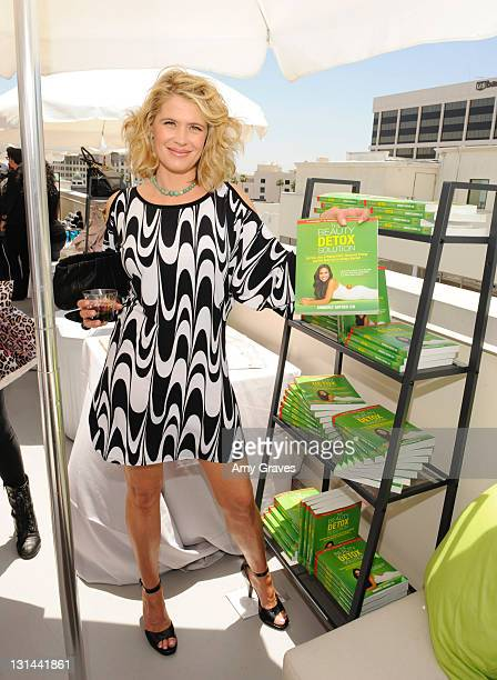 Actress Kristy Swanson with The Beauty Detox Soultion at Melanie Segal's Red Cross Prepare LA Trend Lounge In Celebration of the MTV Movie Awards Day...