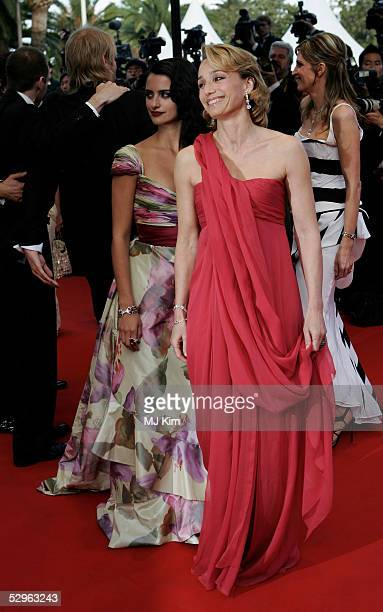Actress Kritsin Scott Thomas and Penelope Cruz attends the Closing Ceremony and premiere of Chromophobia at the Palais during the 58th International...