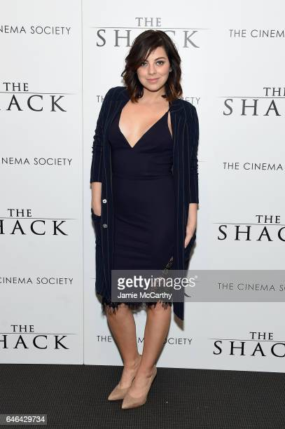 Actress Krysta Rodriguez attends Lionsgate Hosts the World Premiere of The Shack at the Museum of Modern Art on February 28 2017 in New York City