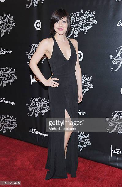 Actress Krysta Rodriguez attends the Breakfast At Tiffany's Broadway Opening Night after party at The Edison Ballroom on March 20 2013 in New York...
