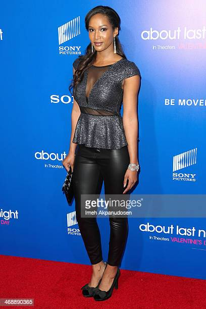 Actress Krystal Harris attends the Pan African Film Arts Festival premiere of Screen Gems' 'About Last Night' at ArcLight Cinemas Cinerama Dome on...