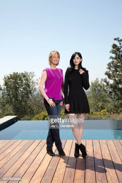 Actress Krysten Ritter and showrunner Melissa Rosenberg are photographed for Los Angeles Times on April 26 2018 in Los Angeles California PUBLISHED...