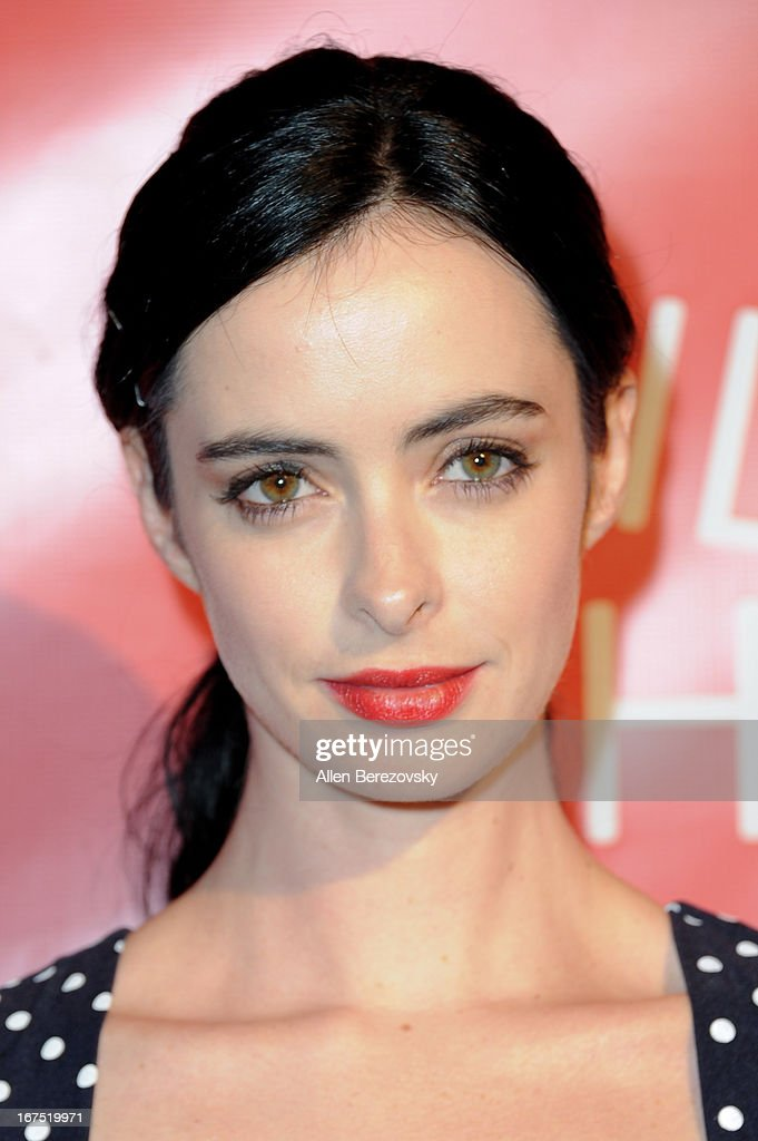 Actress Krysten Ritter arrives at Hilarity For Charity fundraiser benefiting The Alzheimer's Association at Avalon on April 25, 2013 in Hollywood, California.