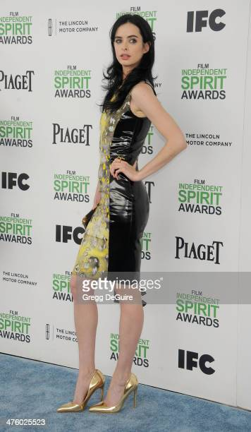 Actress Krysten Ritter arrives at the 2014 Film Independent Spirit Awards on March 1 2014 in Santa Monica California