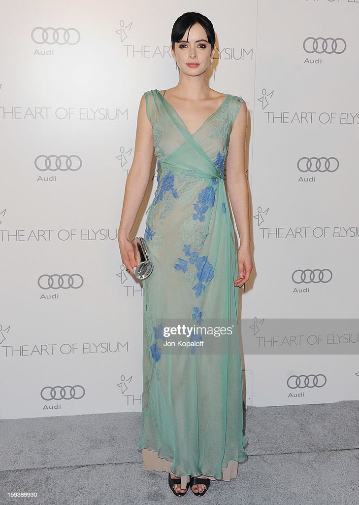 Actress Krysten Ritter arrives at the Art Of Elysium's 6th Annual Heaven Gala on January 12, 2013 in Los Angeles, California.