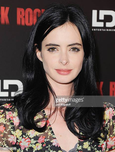 Actress Krysten Ritter arrives at the Los Angeles Premiere 'Black Rock' at ArcLight Hollywood on May 8 2013 in Hollywood California