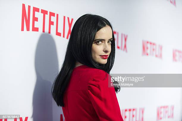 Actress Krysten Ritter arrives at the Netflix original series 'Marvel's Jessica Jones' FYC Screening and QA at Paramount Studios on May 3 2016 in...