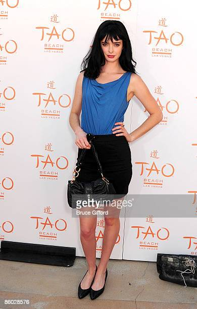 Actress Krysten Ritter arrives at the Season Opening Party of TAO Beach inside the Venetian Resort Hotel Casino on April 18 2009 in Las Vegas Nevada