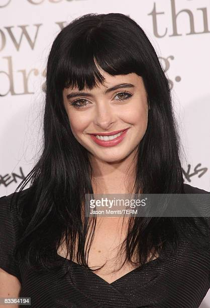 Actress Krysten Ritter arrives at the Zack and Miri Make a Porno Los Angeles premiere on October 20 2008 in Hollywood California