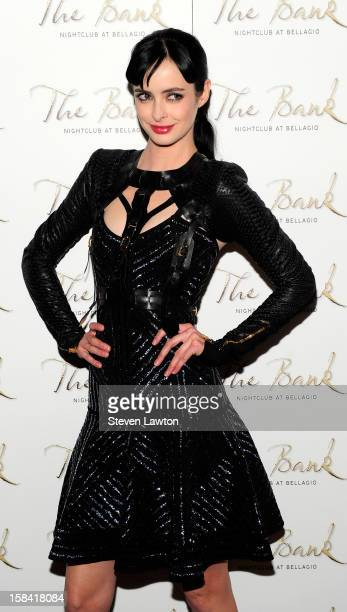 Actress Krysten Ritter arrives for birthday celebration at The Bank Nightclub at the Bellagio on December 15 2012 in Las Vegas Nevada