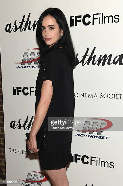 Actress Krysten Ritter attends a screening of IFC Films' Asthma hosted by The Cinema Society and Northwest at Roxy Hotel on October 8 2015 in New...
