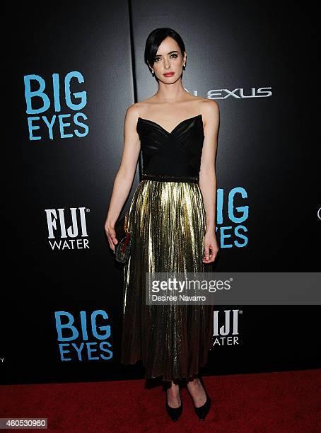 Actress Krysten Ritter attends Big Eyes New York Premiere at Museum of Modern Art on December 15 2014 in New York City