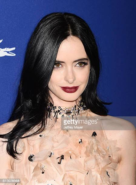 Actress Krysten Ritter attends the 18th Costume Designers Guild Awards at The Beverly Hilton Hotel on February 23 2016 in Beverly Hills California