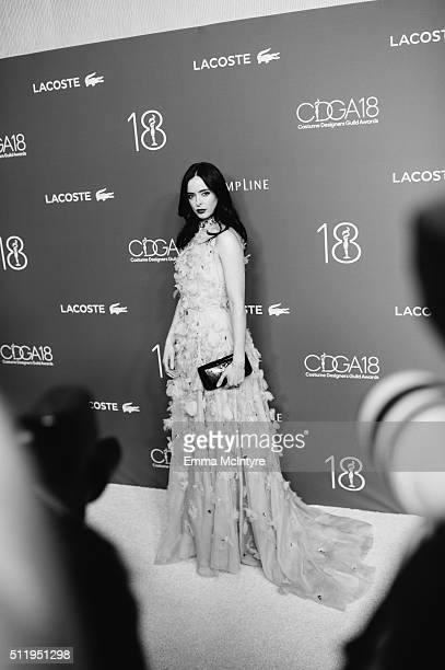 Actress Krysten Ritter attends the 18th Costume Designers Guild Awards with Presenting Sponsor LACOSTE at The Beverly Hilton Hotel on February 23,...