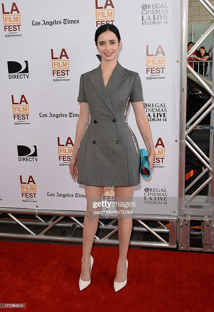 Actress Krysten Ritter attends the 2013 Los Angeles Film Festival premiere of the Fox Searchlight Pictures' 'The Way, Way Back' held on June 23, 2013 in Los Angeles, California.