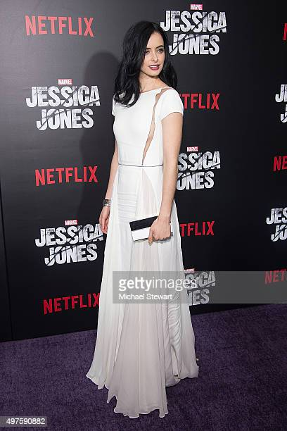 Actress Krysten Ritter attends the 'Jessica Jones' series premiere at Regal EWalk on November 17 2015 in New York City