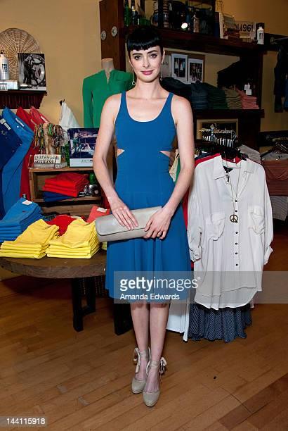 Actress Krysten Ritter attends the Krysten Ritter Fidelity Denim And Blues Jean Bar Hosts an Event Benefitting The Elizabeth Glaser Pediatric AIDS...