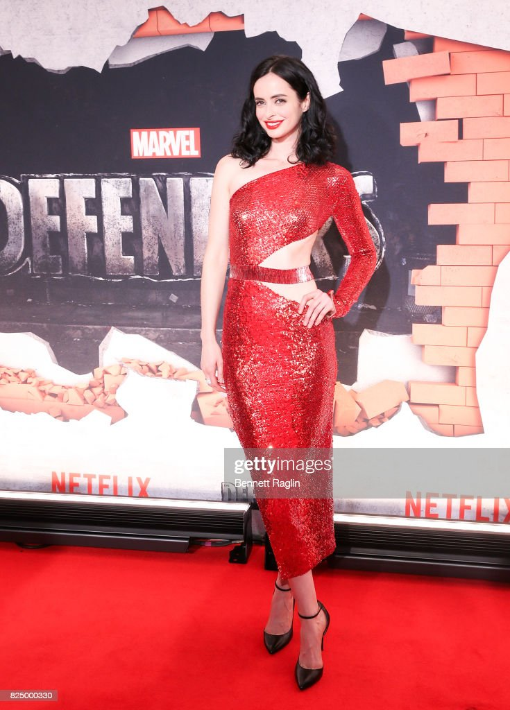 Actress Krysten Ritter attends the 'Marvel's The Defenders' New York premiere at Tribeca Performing Arts Center on July 31, 2017 in New York City.