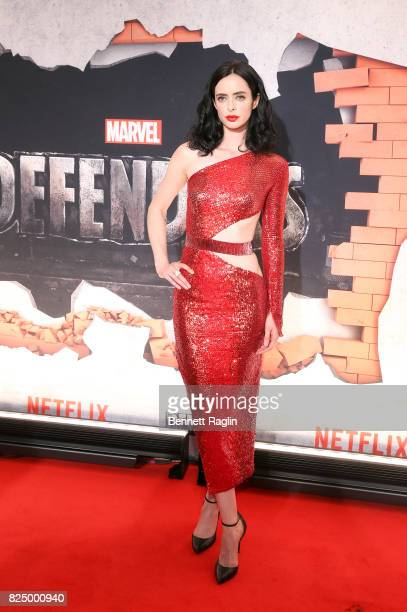 Actress Krysten Ritter attends the Marvel's The Defenders New York premiere at Tribeca Performing Arts Center on July 31 2017 in New York City