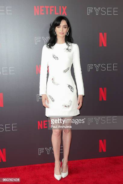 Actress Krysten Ritter attends the #NETFLIXFYSEE event for 'Jessica Jones' at Netflix FYSEE At Raleigh Studios on May 19 2018 in Los Angeles...