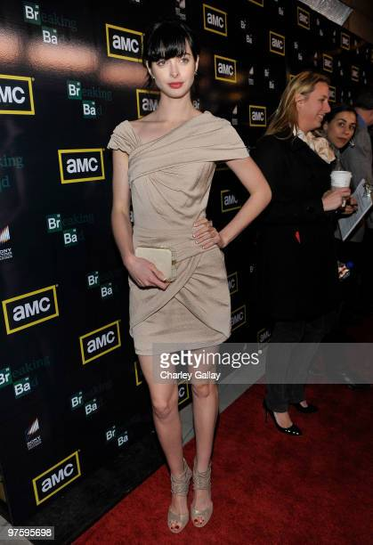 Actress Krysten Ritter attends the Season Three premiere of AMC and Sony Pictures Television's 'Breaking Bad' at the ArcLight Hollywood Cinemas on...