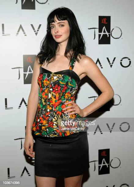 Actress Krysten Ritter attends the TAO and LAVO anniversary weekend held at TAO in the Venetian Resort Hotel Casino on October 3 2009 in Las Vegas...