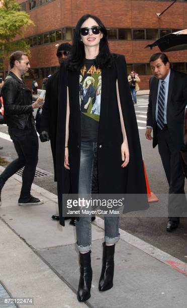 Actress Krysten Ritter is seen on November 8 2017 in New York City