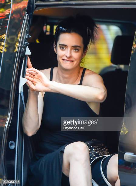 Actress Krysten Ritter is seen on set of 'Jessica Jones' on July 9 2018 in New York City