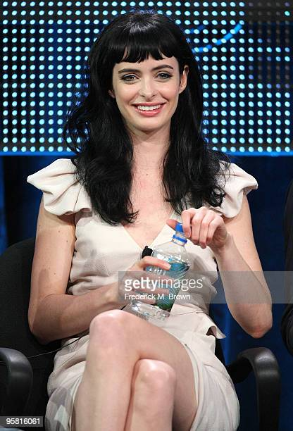 """Actress Krysten Ritter of the television show """"Gravity"""" speaks during the Starz Network portion of The 2010 Winter TCA Press Tour at the Langham..."""