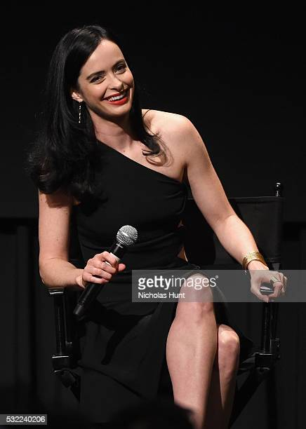 Actress Krysten Ritter speaks onstage during a cast and crew discussion with Marvel's 'Jessica Jones' at the New York Institute of Technology on May...