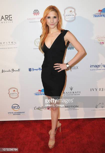 Actress Krystin Goodwin attends the Amare's Second Year Anniversary 'Believe Issue' Party held at Sofitel Los Angeles At Beverly Hills on December 13...