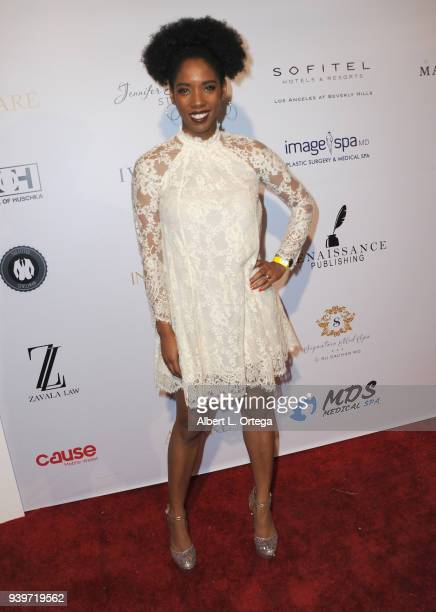 Actress Krystina Arielle Tigner arrives at the Amare Magazine Celebration for Their Music And Art Issue held at Riviera 31 on March 28 2018 in Los...