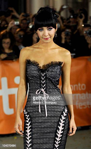 Actress Ksenia Solo arrives at the Black Swan Premiere held at Roy Thomson Hall during the 35th Toronto International Film Festival on September 13...