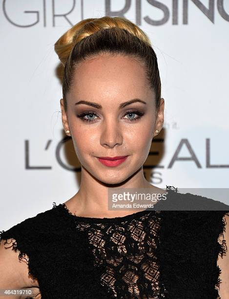 Actress Ksenia Solo arrives at the Vanity Fair and L'Oreal Paris Girl Rising benefit at 1 OAK on February 20 2015 in West Hollywood California