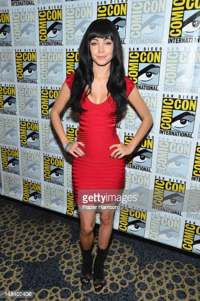 Actress Ksenia Solo attends Lost Girl Press Line during ComicCon International 2012 at Hilton San Diego Bayfront Hotel on July 15 2012 in San Diego...