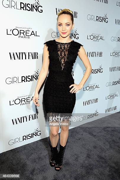 Actress Ksenia Solo attends VANITY FAIR and L'Oreal Paris DJ Night hosted by Freida Pinto to benefit Girl Rising at 1OAK on February 20 2015 in Los...