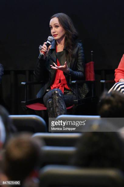 Actress Ksenia Solo speaks during a QA following the In Search Of Fellini screening at City Cinemas Village East on September 15 2017 in New York City