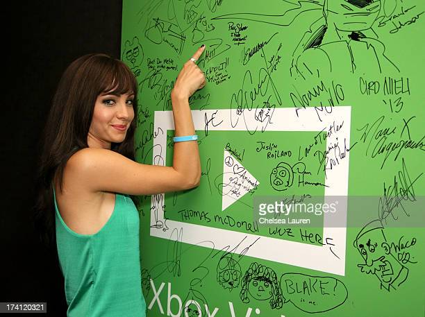 Actress Ksenia Solo visits Xbox One at ComicCon 2013 at the Hard Rock Hotel San Diego on July 20 2013 in San Diego California