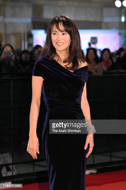 Actress Kumiko Goto arrives at the opening ceremony of Tokyo International Film Festival 2019 at Roppongi Hills on October 28 2019 in Tokyo Japan